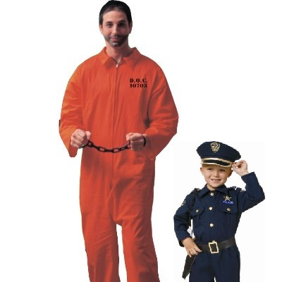father son police inmate costumes