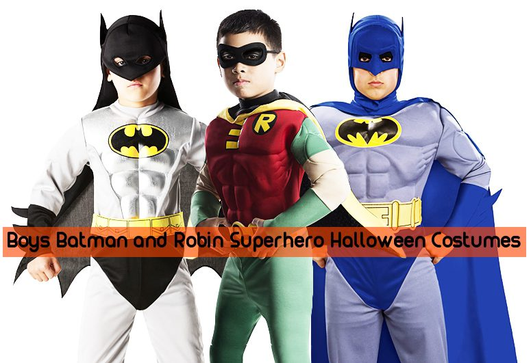 Boys Batman and Robin Superhero Halloween Costumes
