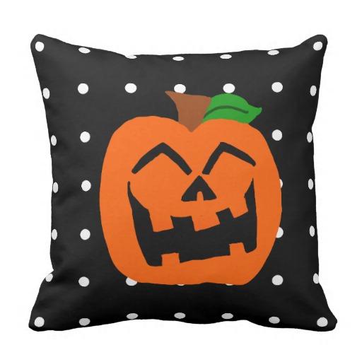 Cute Pumpkin Halloween Throw Pillows
