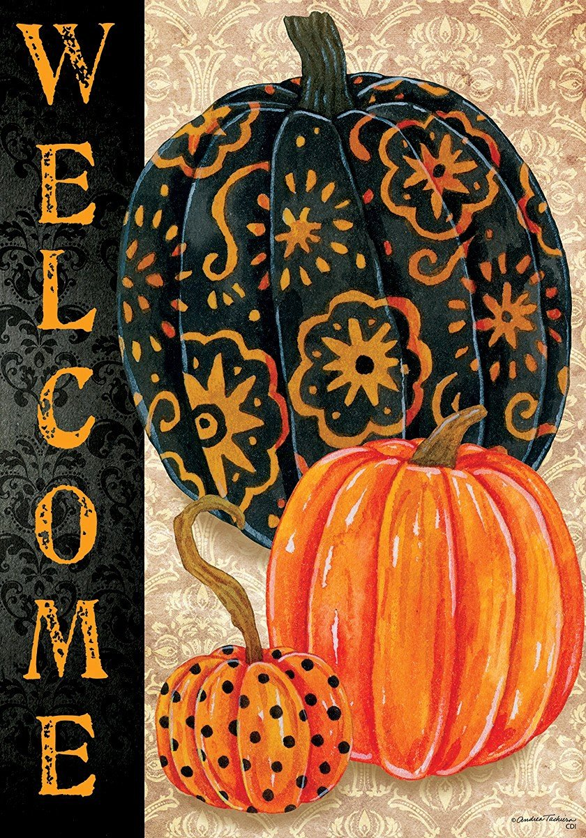 Halloween Pumpkin Garden Flags