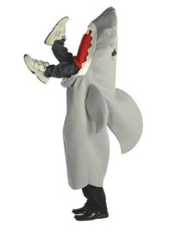 Want a Halloween costume that isn't like everyone else's costume? Try the Man Eating Shark Halloween Costume. It's great for Shark Week parties too!