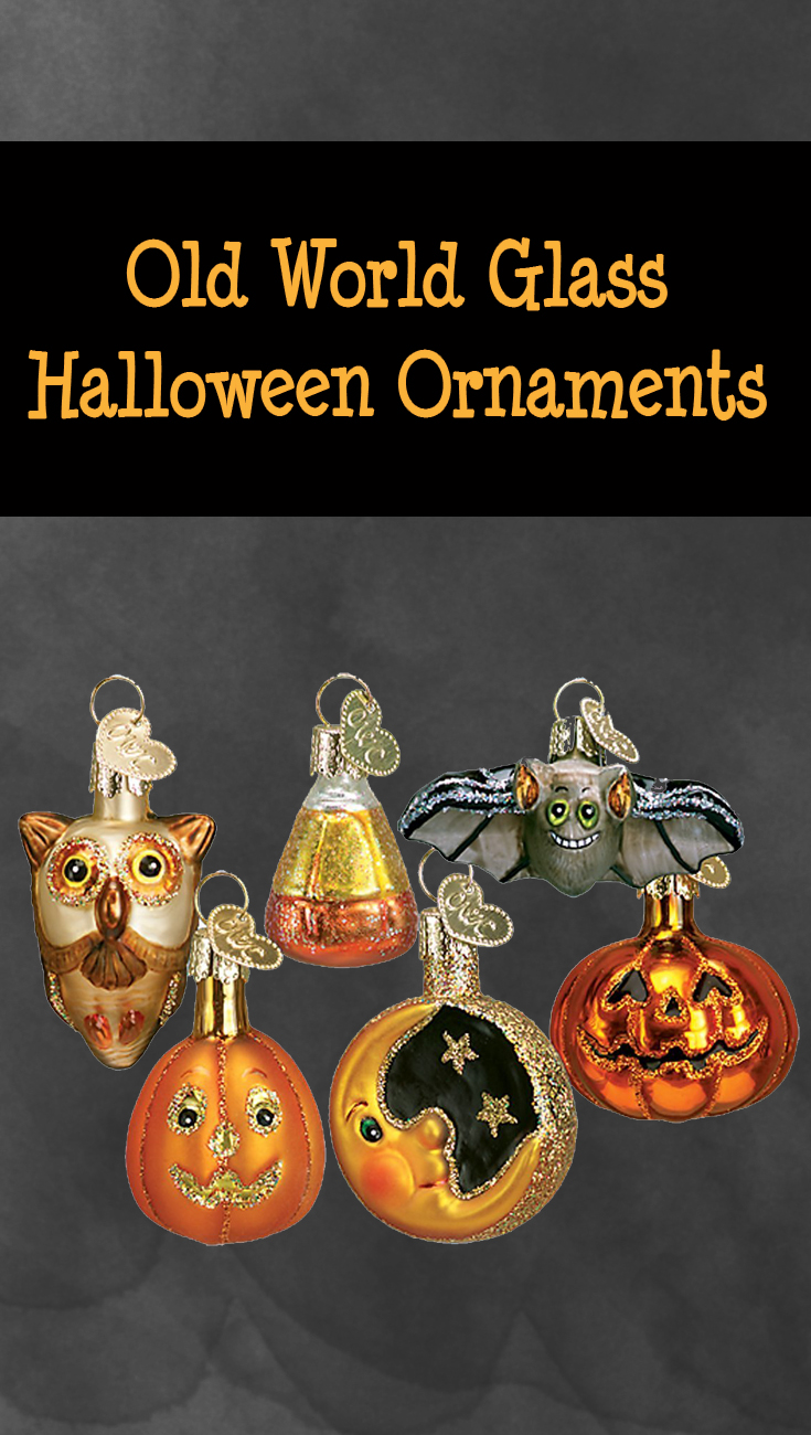 Halloween glass ornaments - Artificial Green Trees