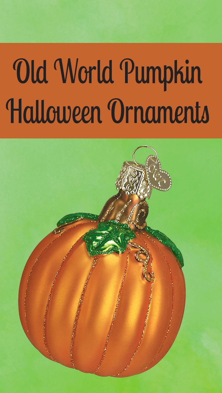 Old World Pumpkin Halloween Ornaments