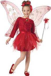 Red Fairy Costumer for Girls