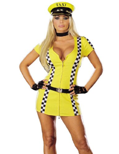 Sexy Taxi Cab Driver Halloween Costumes