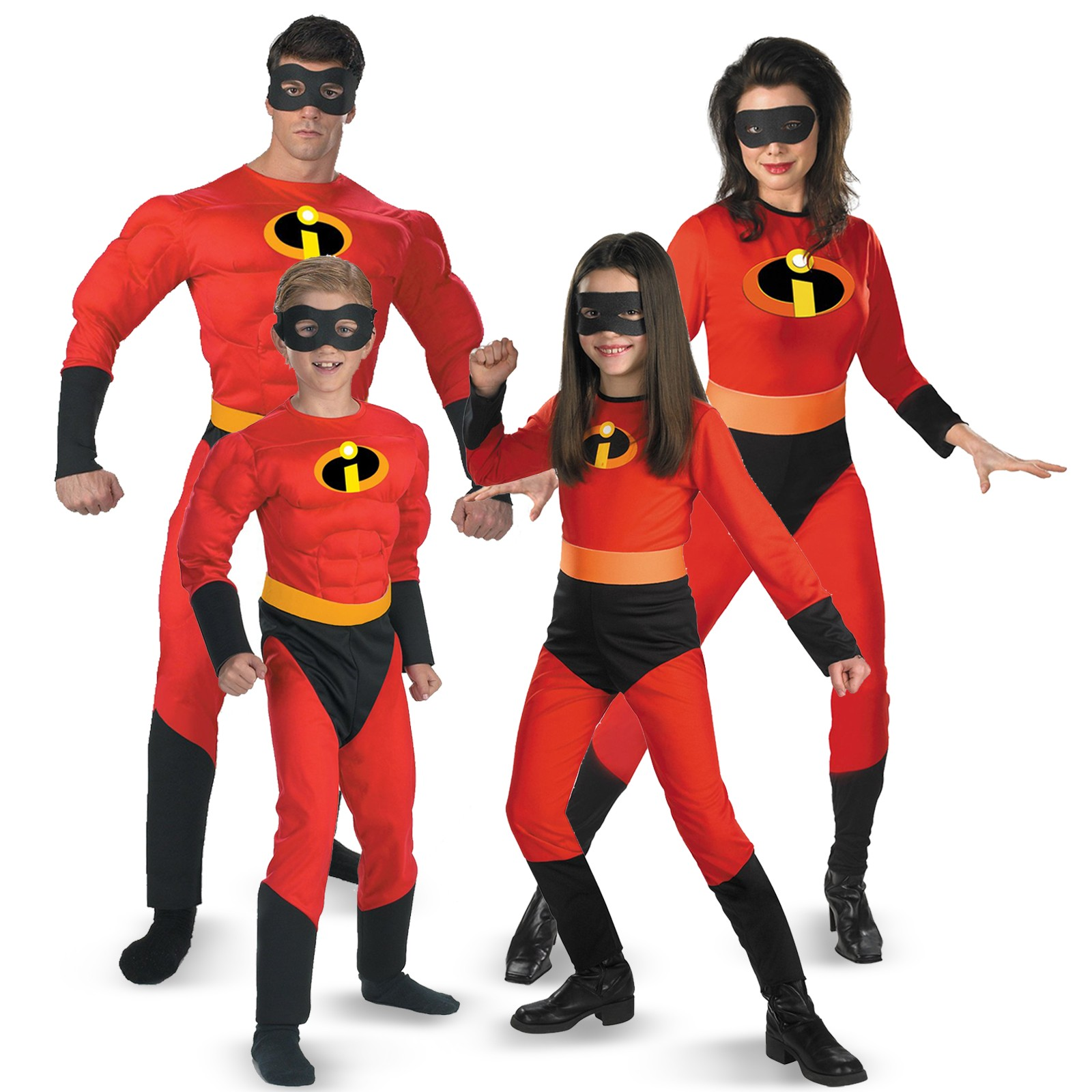 The Incredibles Family Group Halloween Costumes