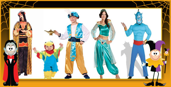 Aladdin and Jasmine Halloween Costumes