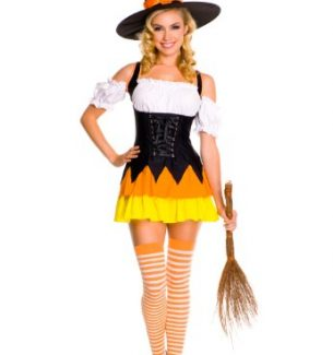 Halloween Candy Corn Witch Costumes