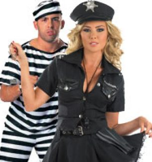 Couples Halloween Costumes - Cops and Robbers