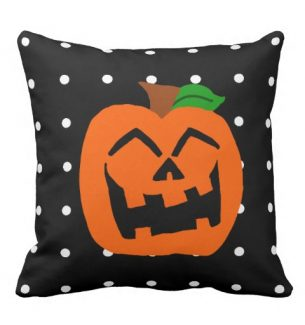 Cute Pumpkin Halloween Throw Pillows