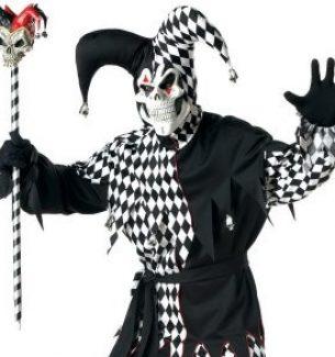 Evil Jester Halloween Costumes