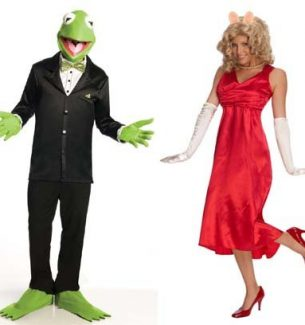 Kermit and Miss Piggy Halloween Costumes