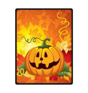 Halloween Pumpkin Throw Blankets