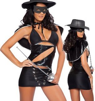 Sexy Masked Hero Costumes for Women