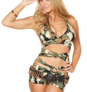 Sexy Soldier Girl Halloween Costume