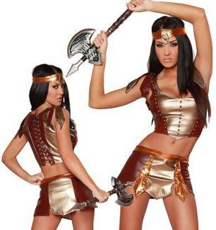 Sexy Warrior Halloween Costumes