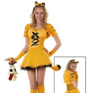 Women's Garfield Halloween Costume