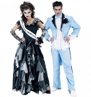 Zombie Prom King and Queen Halloween Costumes