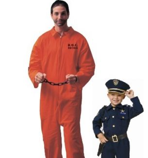 Father and Son Cop Inmate Costumes