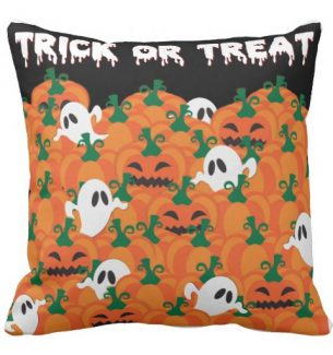 Halloween Ghost Throw Pillows