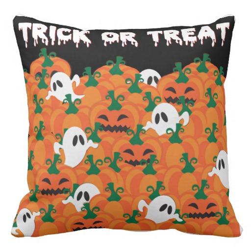 Halloween Ghost Throw Pillows