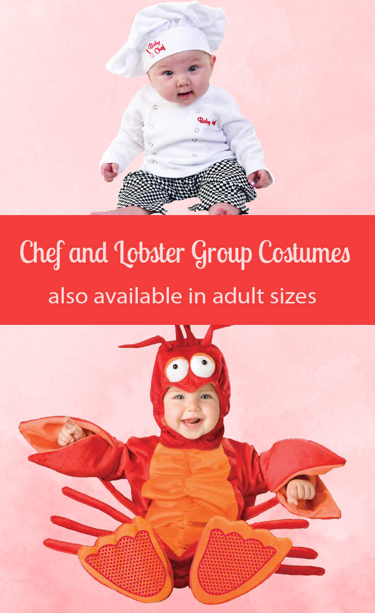 Chef and Lobster Group Costumes
