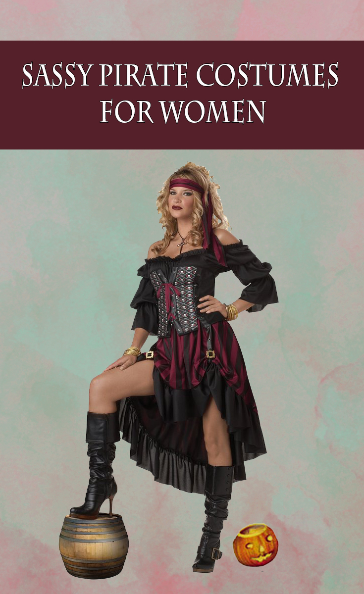 Sassy Pirate Costume for Women